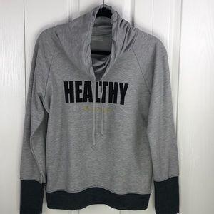 """NWT Beachbody Mandy Cowl Neck """"Healthy"""" sweatshirt"""